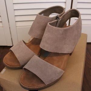 Desert Taupe Suede Women's Majorca Cutout Sandals